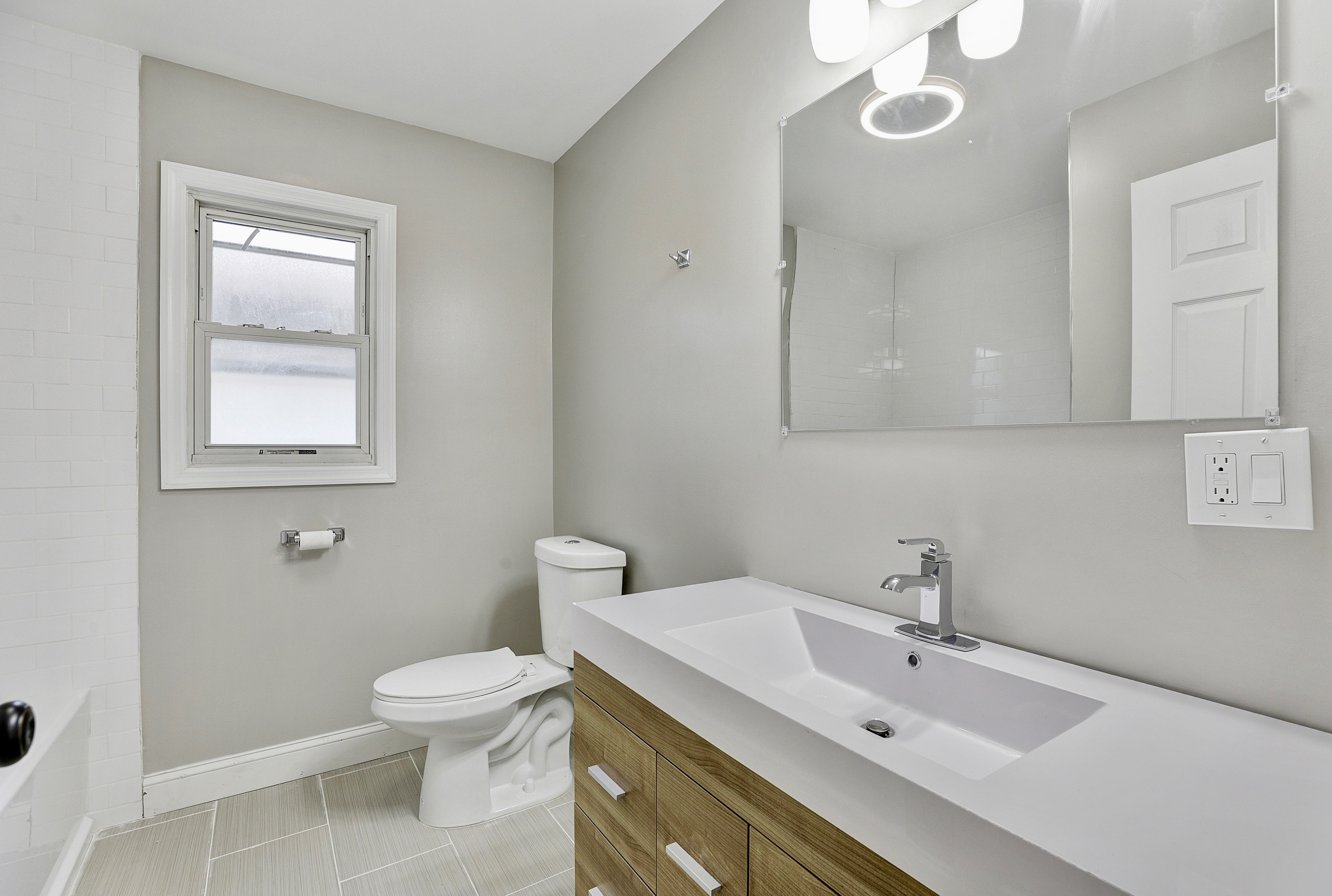 bathroom after fix and flip loan in NJ